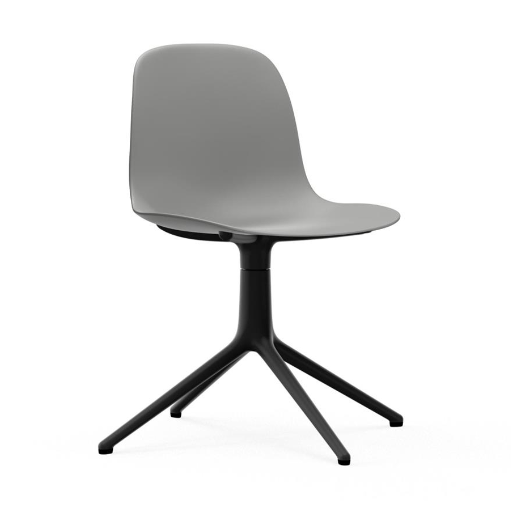 Normann Copenhagen Form Chair Swivel Black Aluminium Base