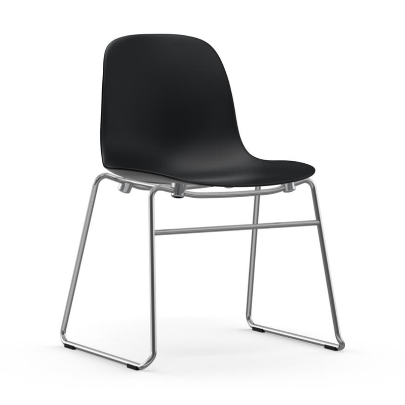 Normann Copenhagen Form chair, chrome, stacking