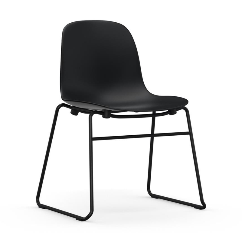 Normann Copenhagen Form chair, steel, stacking