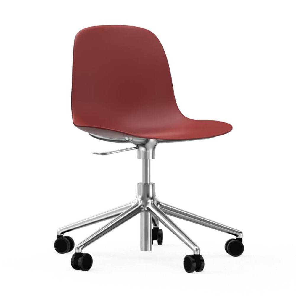 Normann Copenhagen Form Chair 5-Wheel Swivel & Gaslift Aluminium Base