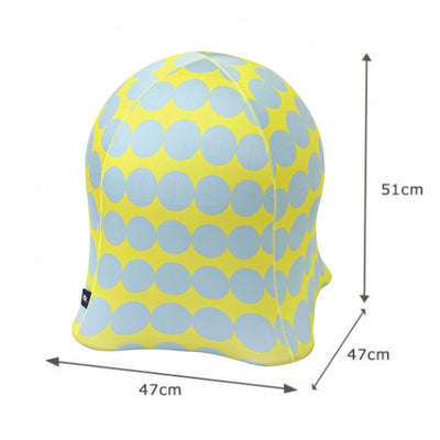 Spice Jellyfish Exercise Chair, Coin Dot Blue on Yellow