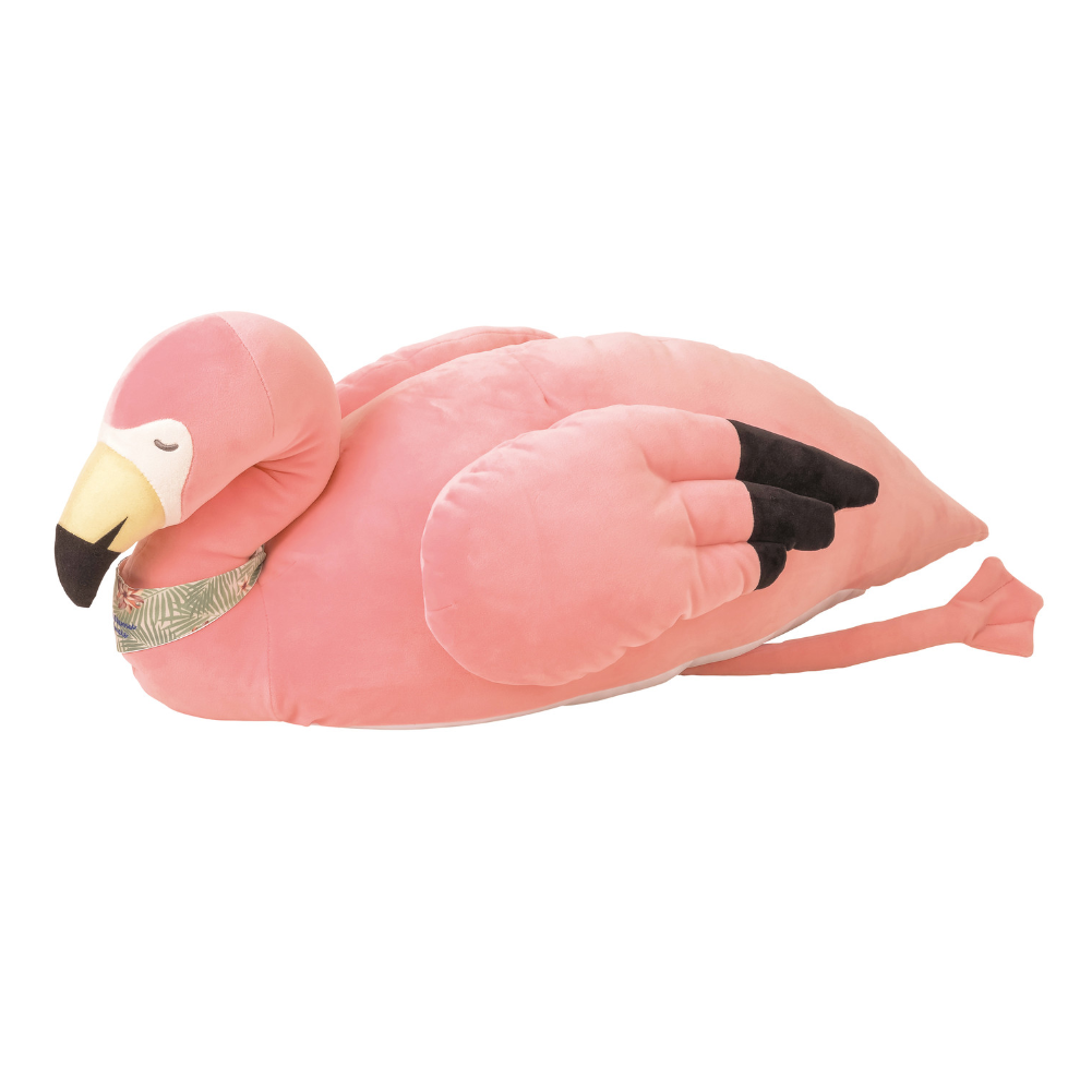 Nemu Nemu Flamingo Cool Hug Pillow . Medium