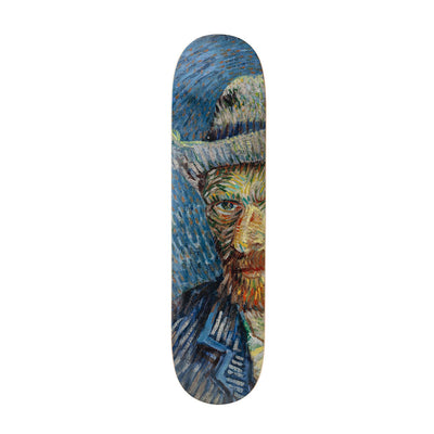 The Skateroom skateboard, Vincent Van Gogh Self-Portrait With Grey Felt Hay Solo