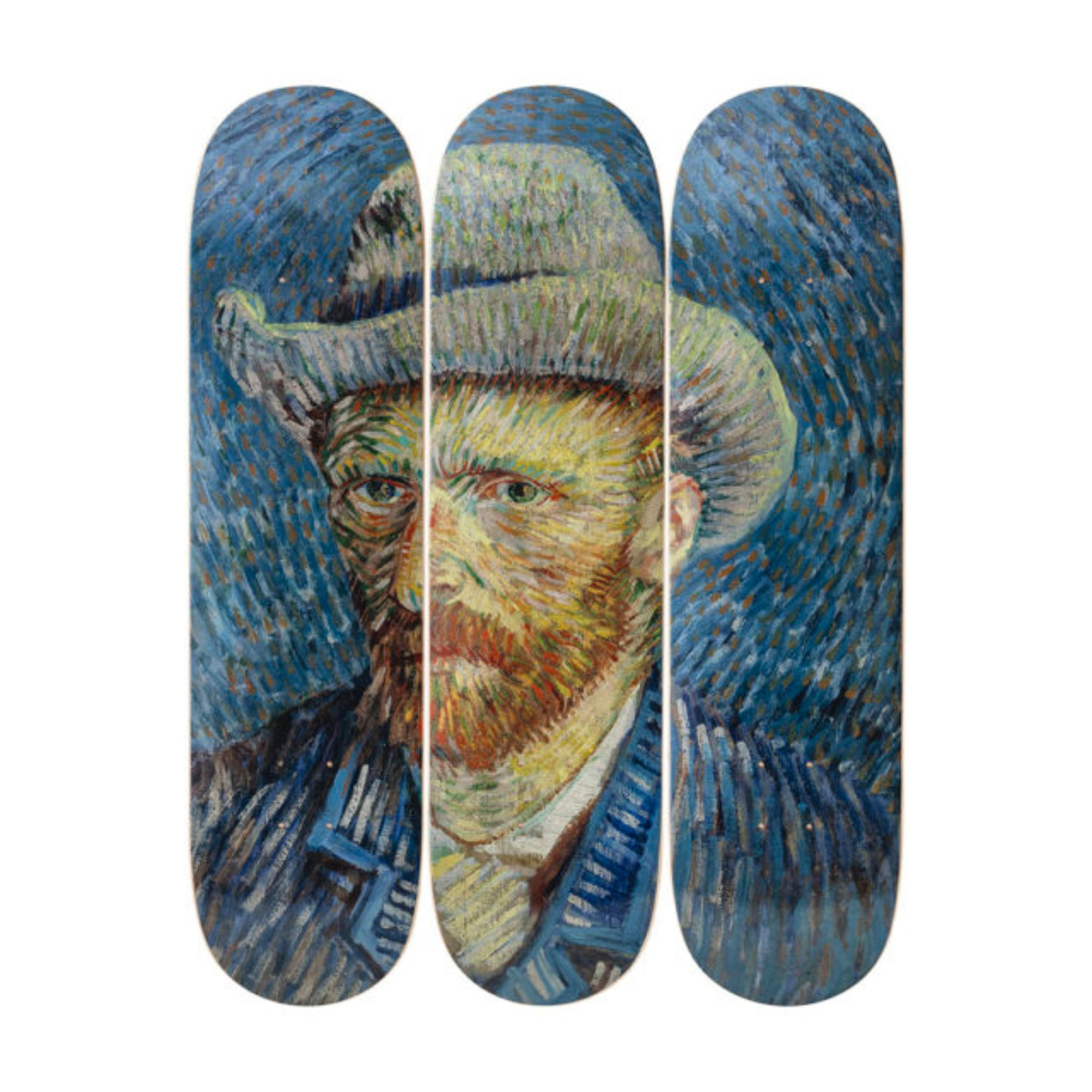 The Skateroom skateboard set, Vincent Van Self-Portrait with Grey Felt Hat