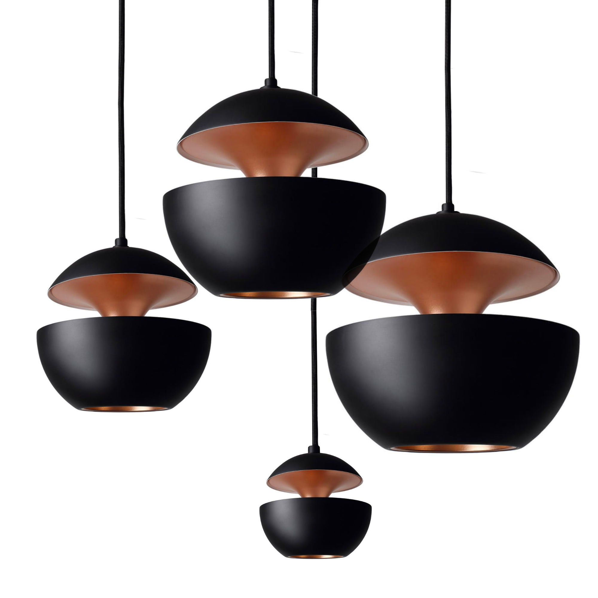 DCW Here Comes The Sun pendant lamp, black - copper