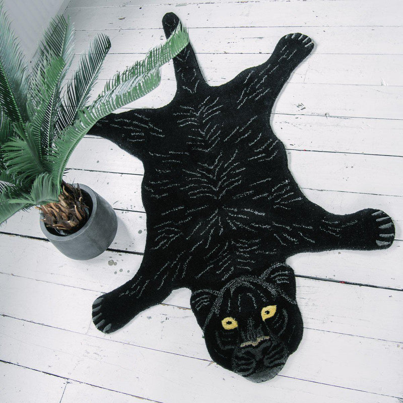 Doing Goods Black Panther Rug 115x67cm