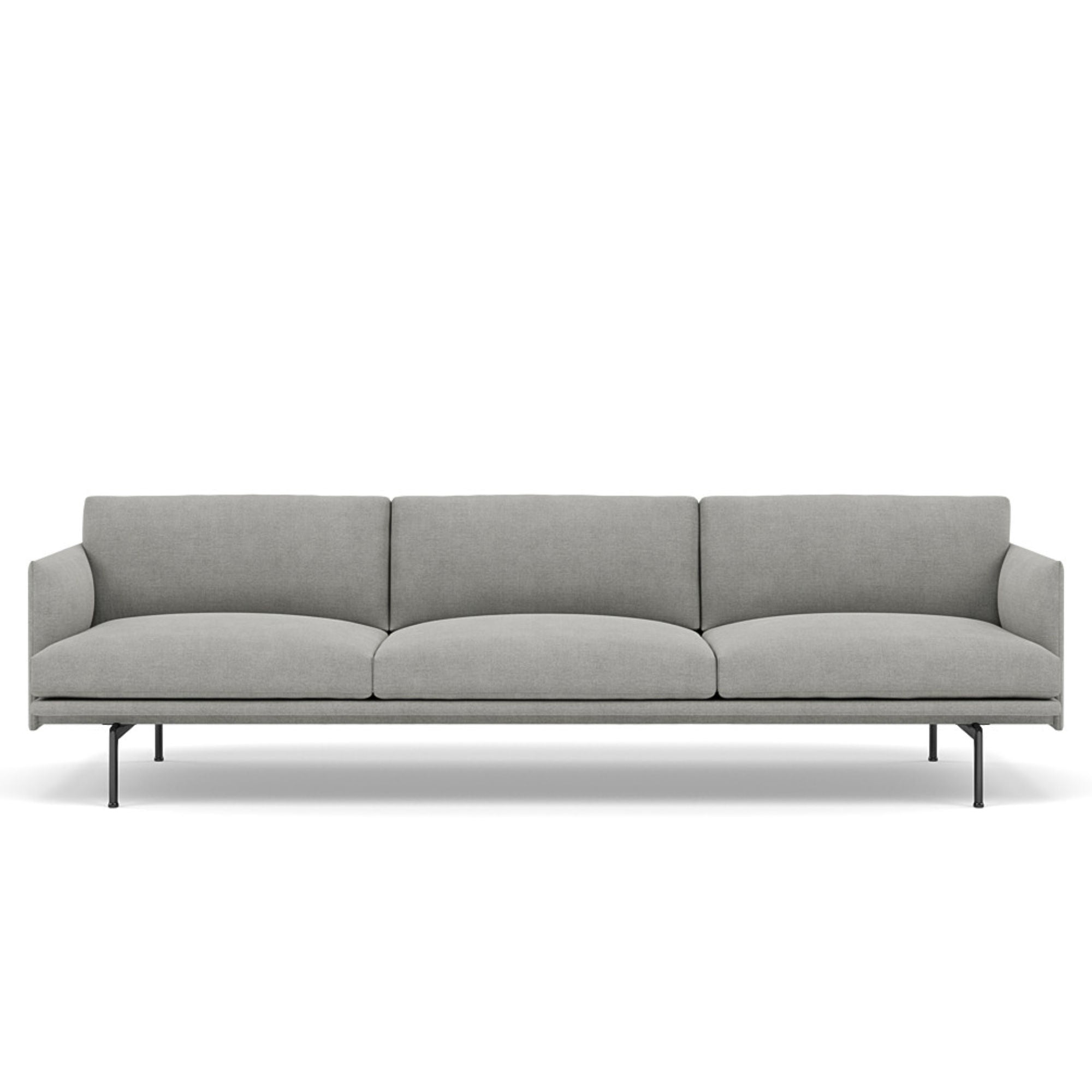Muuto Outline Sofa 3 1/2-Seater Black Base , Fiord 151