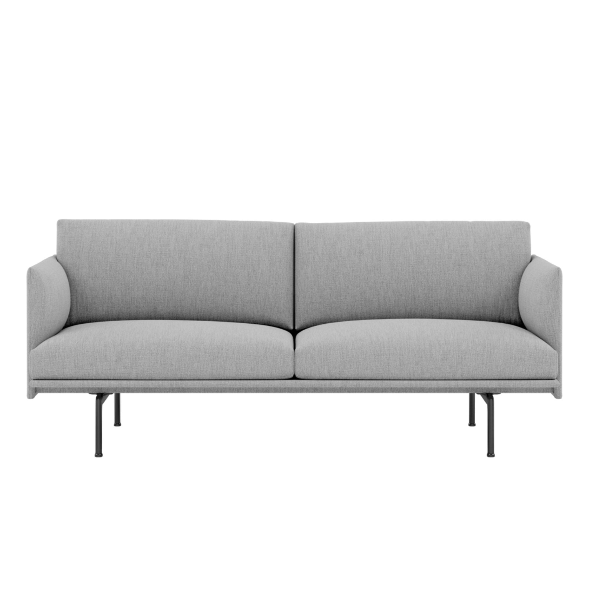 Muuto Outline Studio Sofa 170cm Black Base , Fiord 151