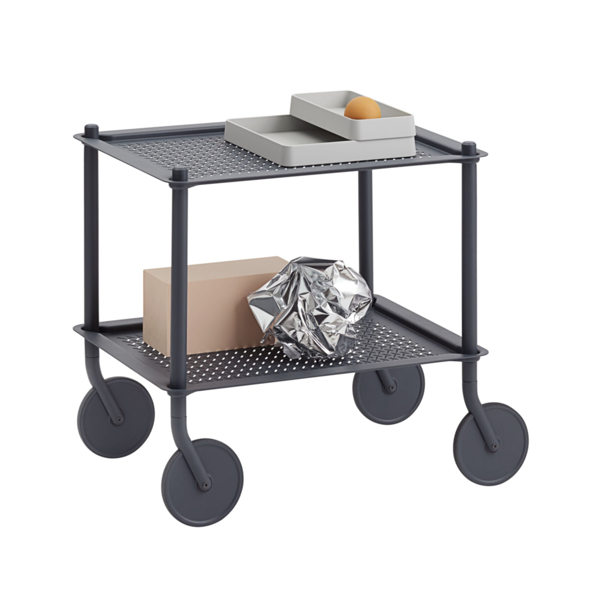 Muuto Flow Trolley 2-Layer , Blue Grey