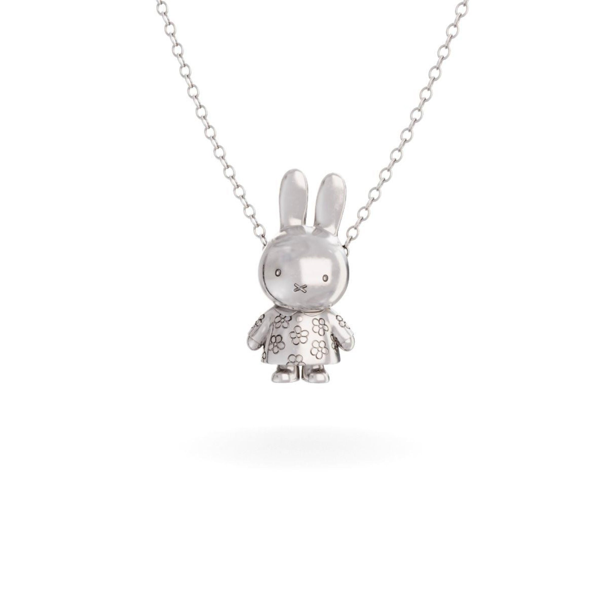 Miffy Sterling Silver Necklace Set , Flower Body