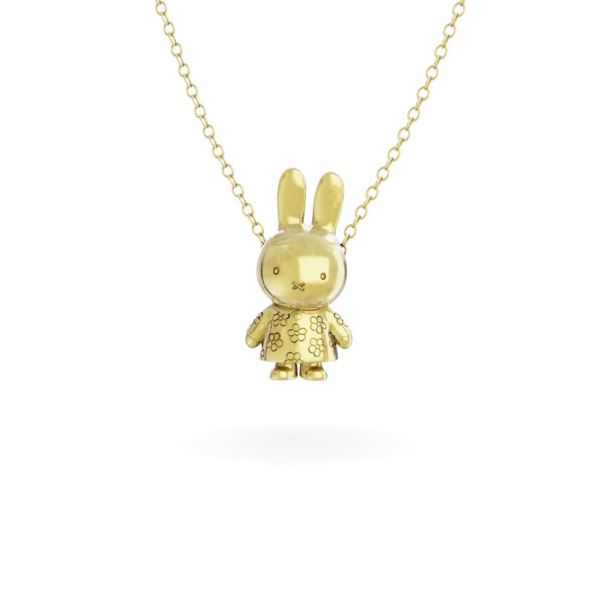 Miffy 18Ct Gold Vermeil Necklace Set , Flower Body