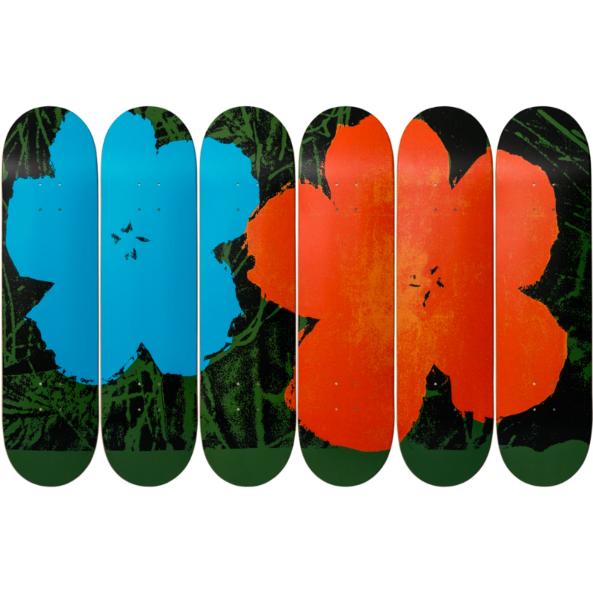 The Skateroom skateboard, Andy Warhol Flowers