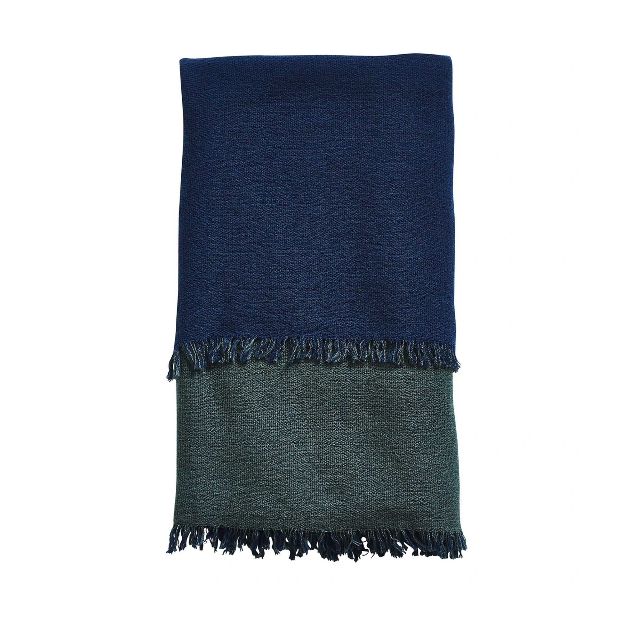 Woud Double Throw , Navy Blue-Forest Green