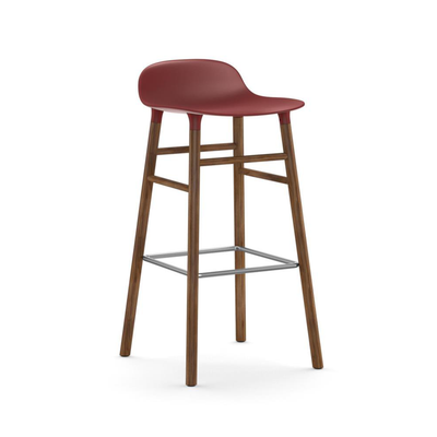 Normann Copenhagen Form Bar Stool 75cm Oak Legs