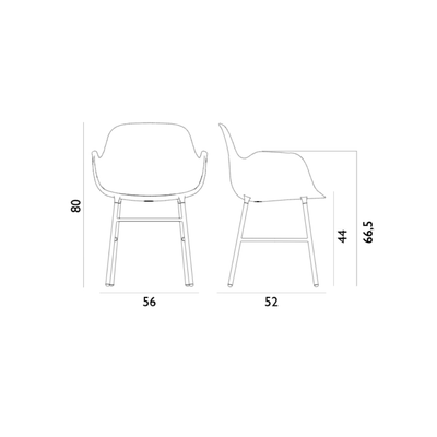 Normann Copenhagen Form Armchair Steel Leg