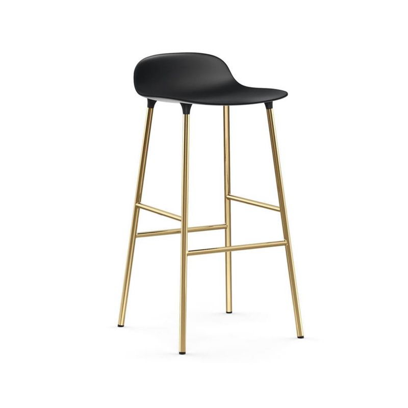 Normann Copenhagen Form Bar Stool 75cm Brass Legs