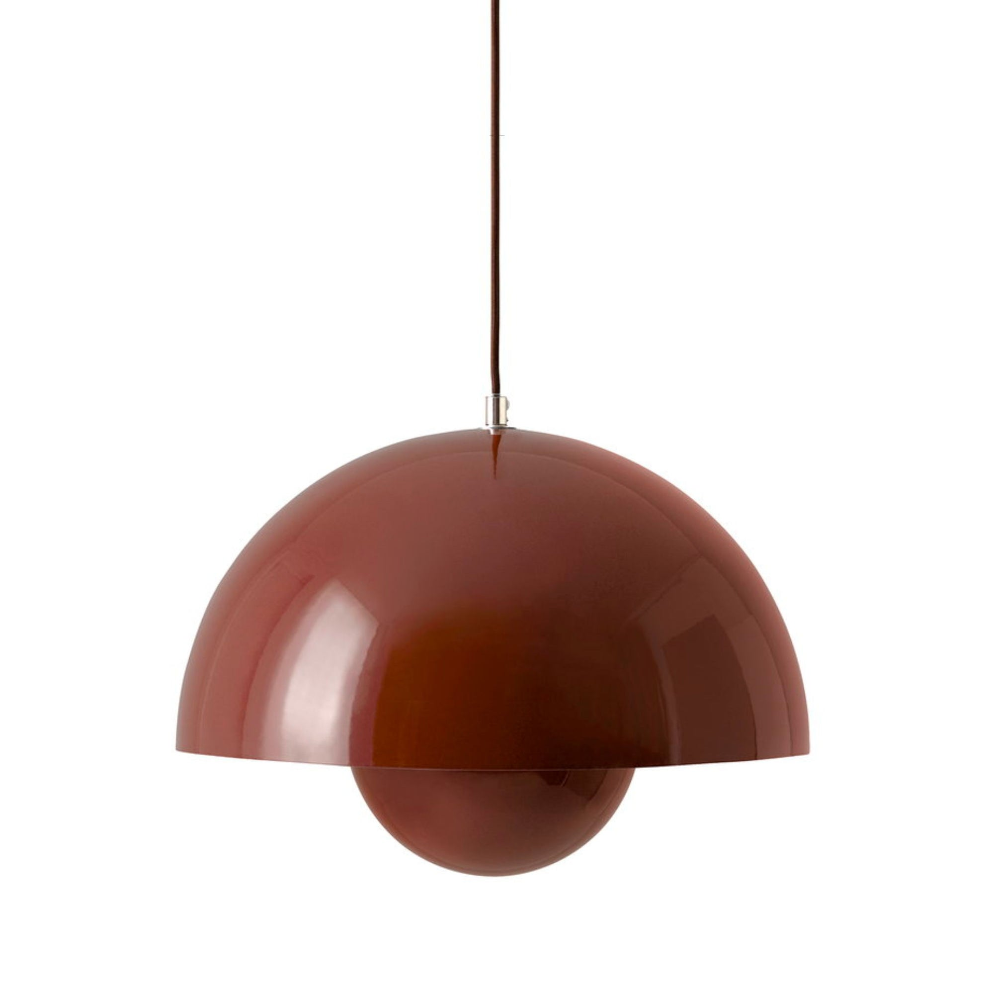 &Tradition Flowerpot pendant lamp, red brown