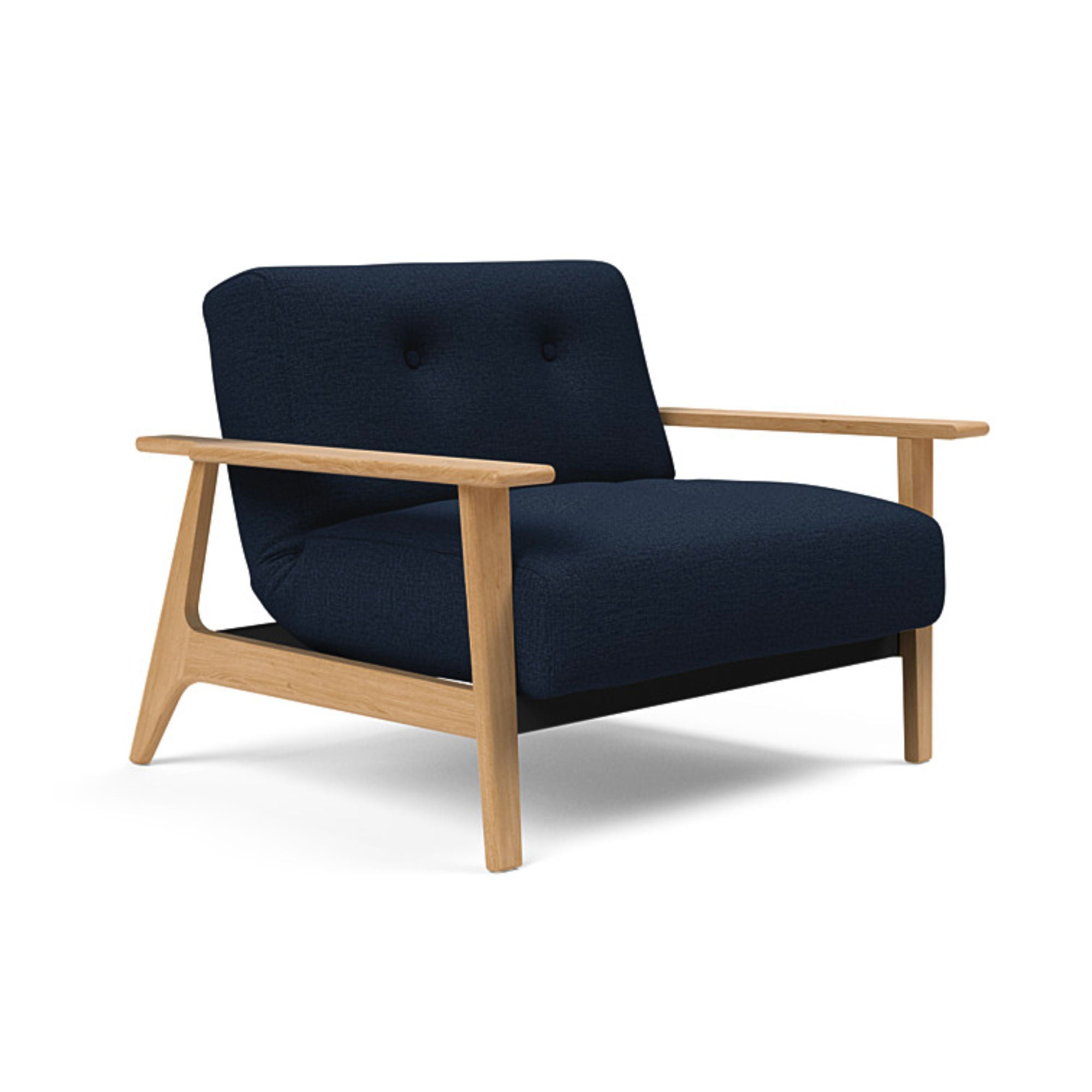 Innovation Living Ample Frej Chair Oak , 528 Mixed Dance Blue