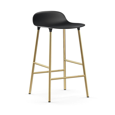 Normann Copenhagen Form Bar Stool 65cm Brass Legs