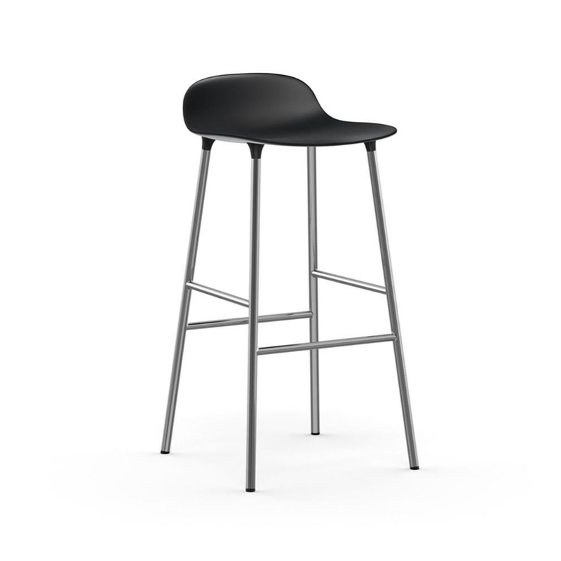 Normann Copenhagen Form Bar Stool 75cm Chrome Legs