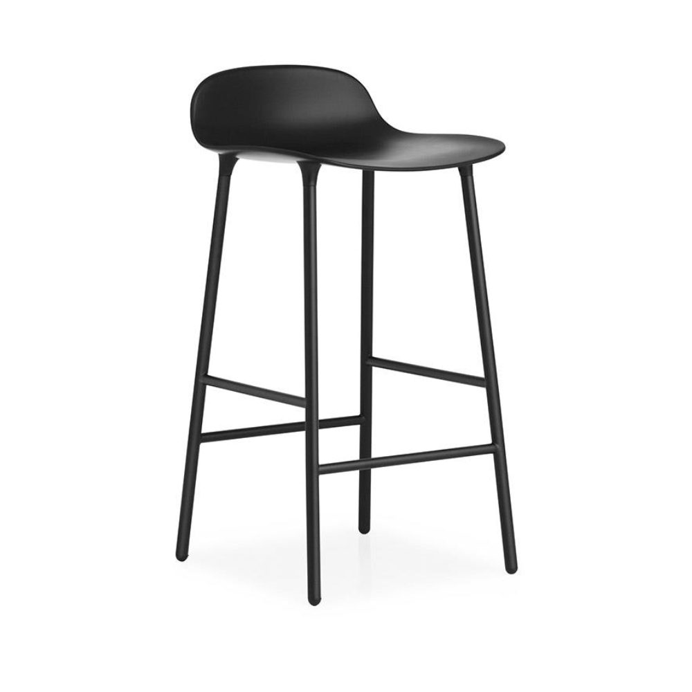 Normann Copenhagen Form Bar Stool 65cm Steel Legs