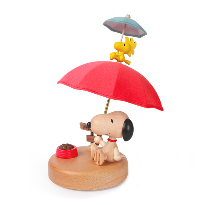 Snoopy Umbrella Wooden Light