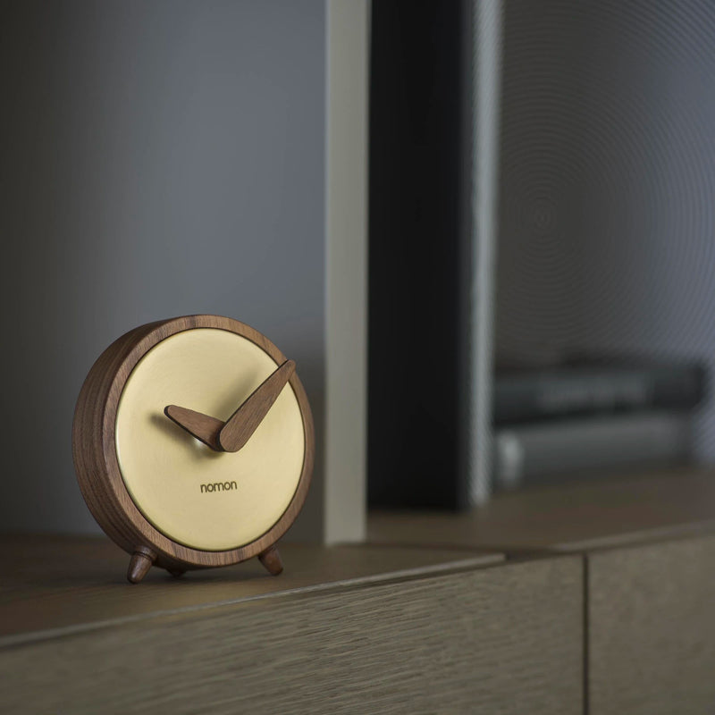 Nomon Atomo Table Clock , Gold