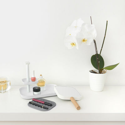 Umbra Vana mirror and organizer, white