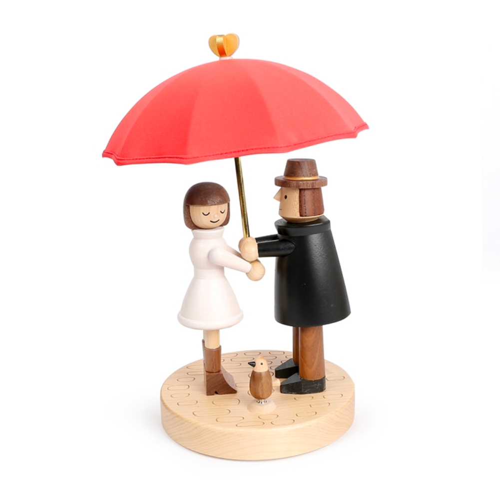 Love's Umbrella Wooden Lamp