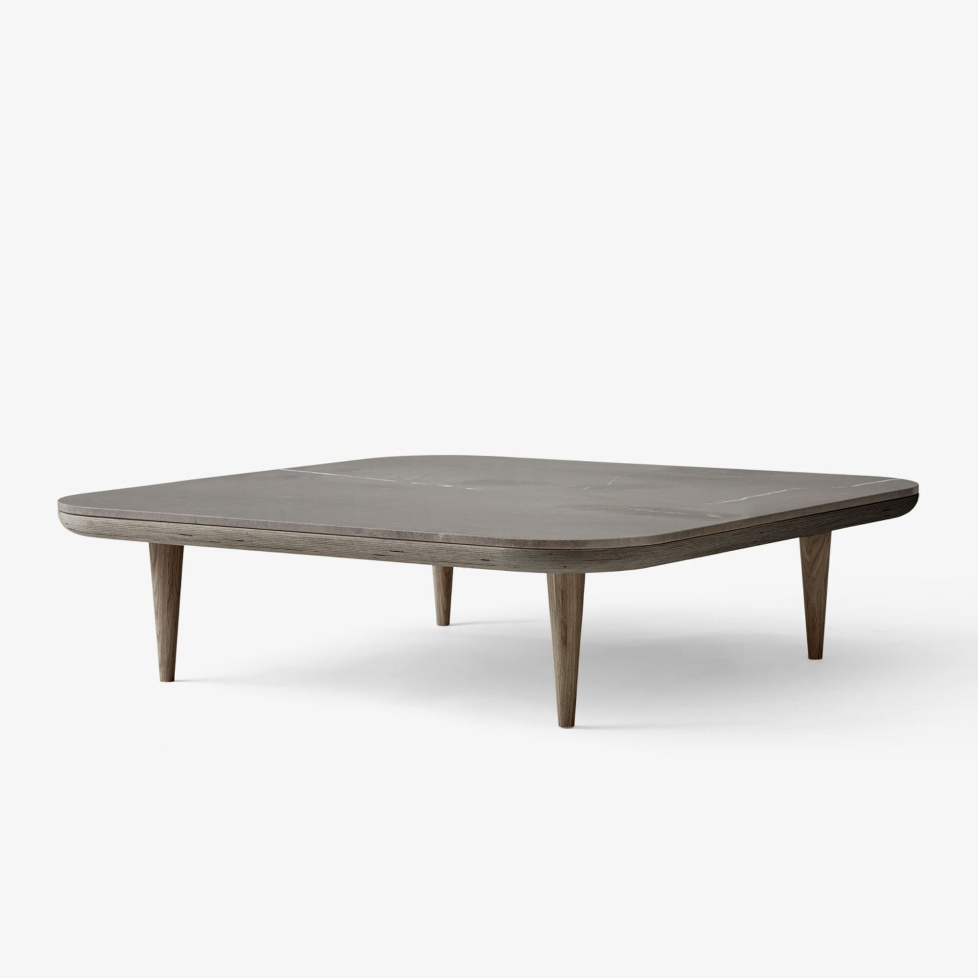 &Tradition SC11 Fly Coffee Table , Smoked Oiled Oak-Honed Azul Valverde Marble