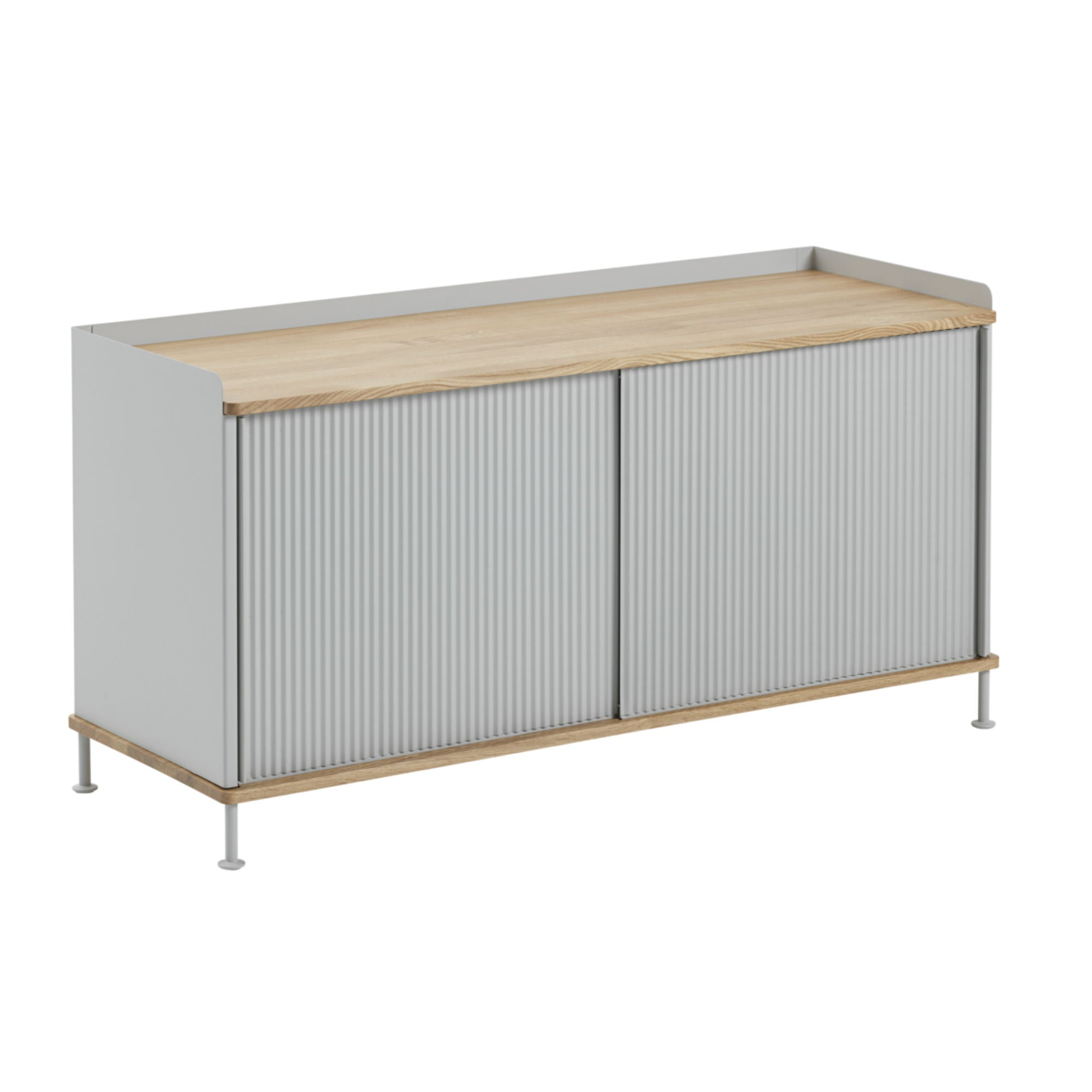 Muuto Enfold Sideboard Low , Oak/Grey