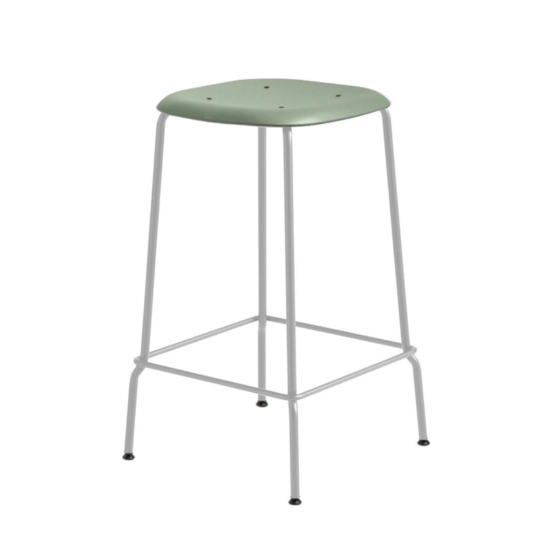 Hay Soft Edge P30 bar stool, dusty green, soft grey