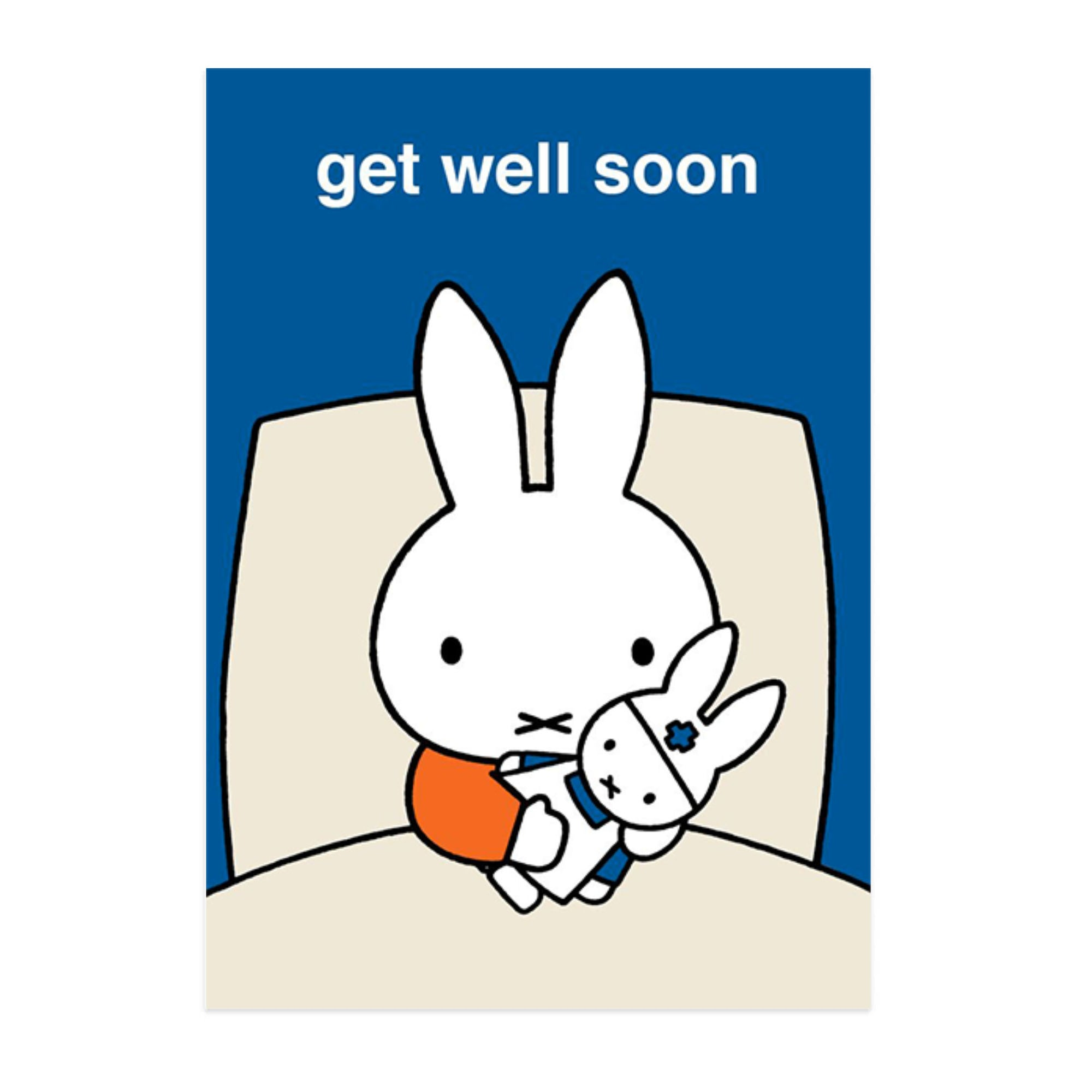 Hype Miffy message card, get well soon