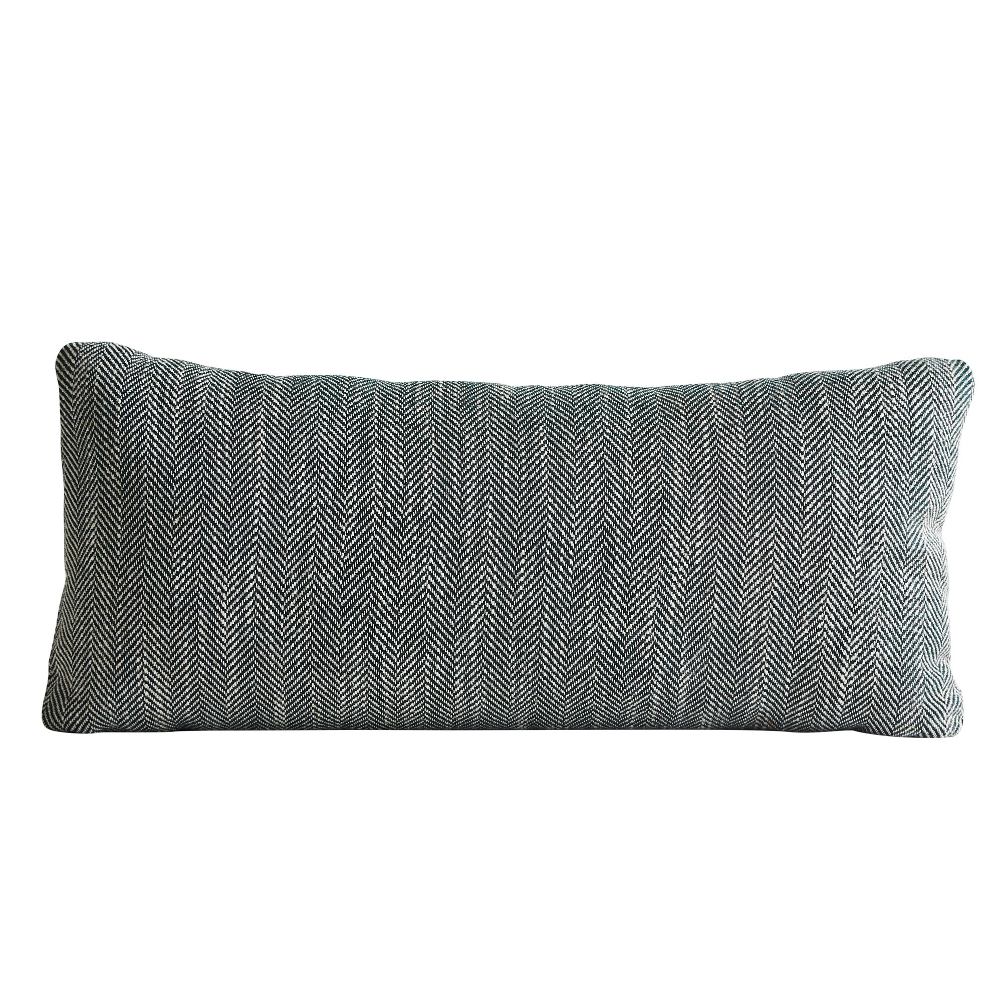 Woud Herrinbone Cushion , Forest Green