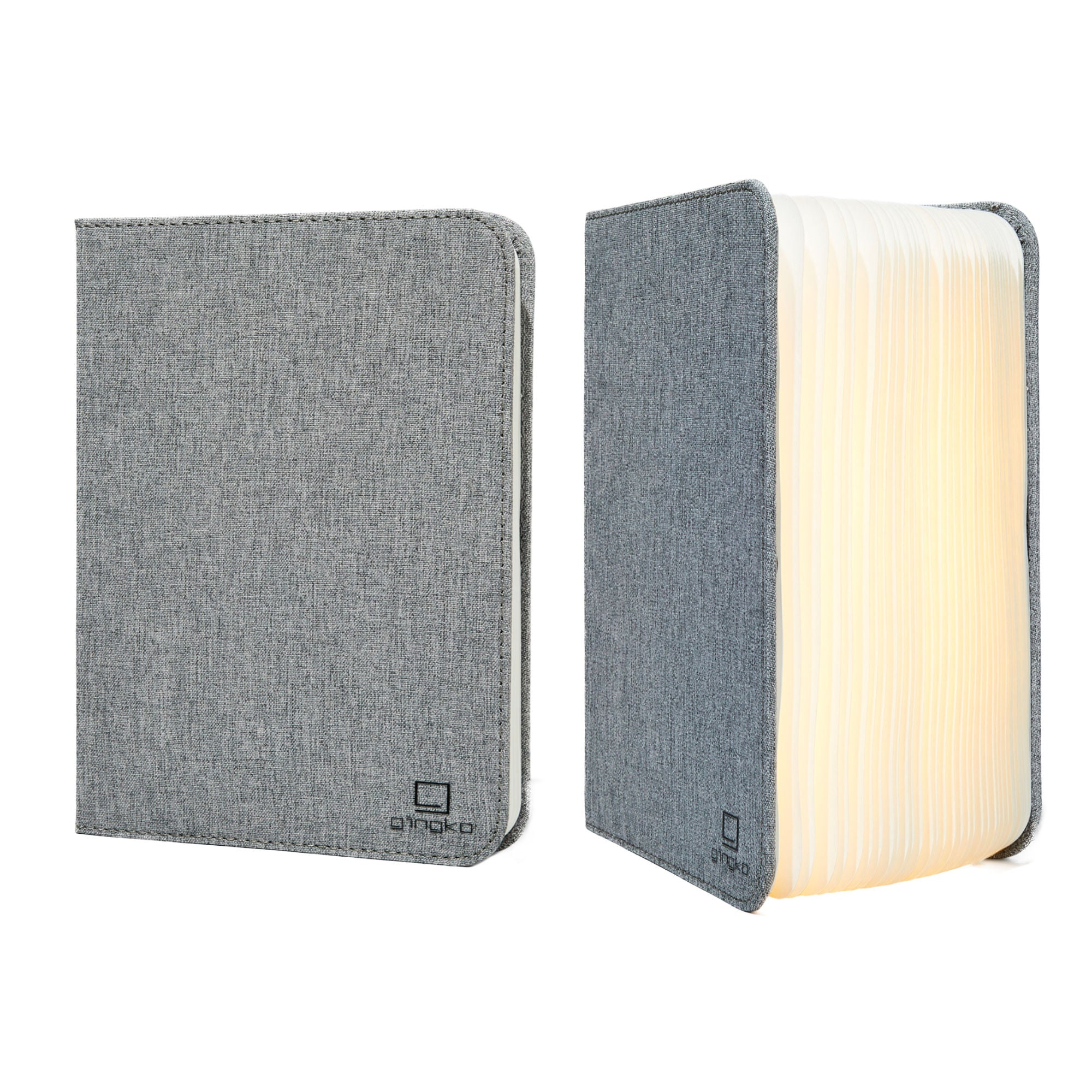 Gingko Smart booklight large , linen grey