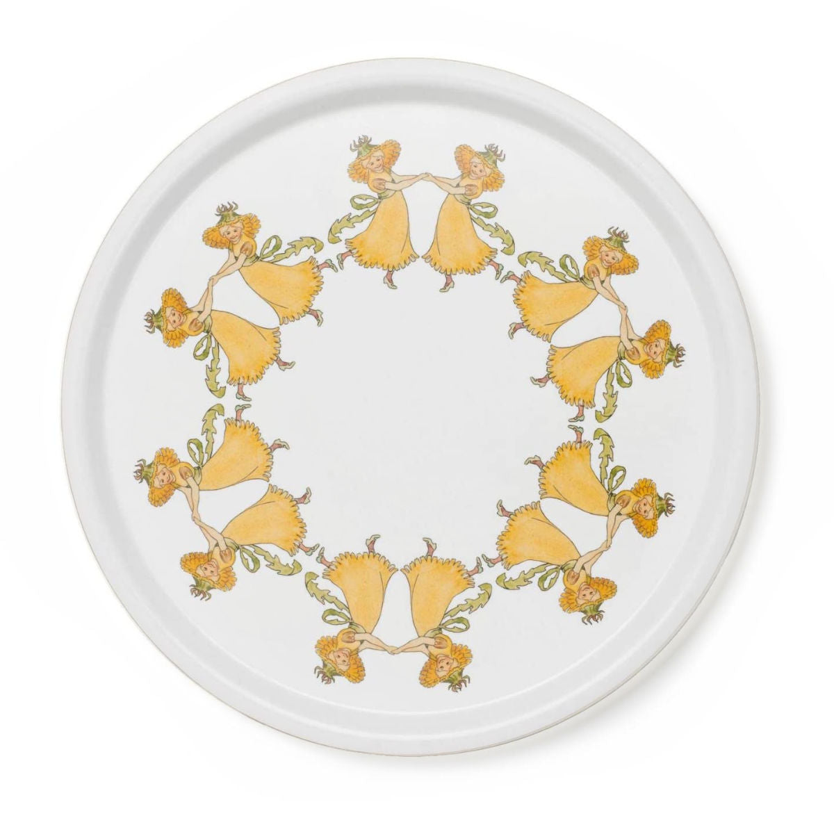 Design House Stockholm Elsa Beskow tray Ø35cm, flower girls