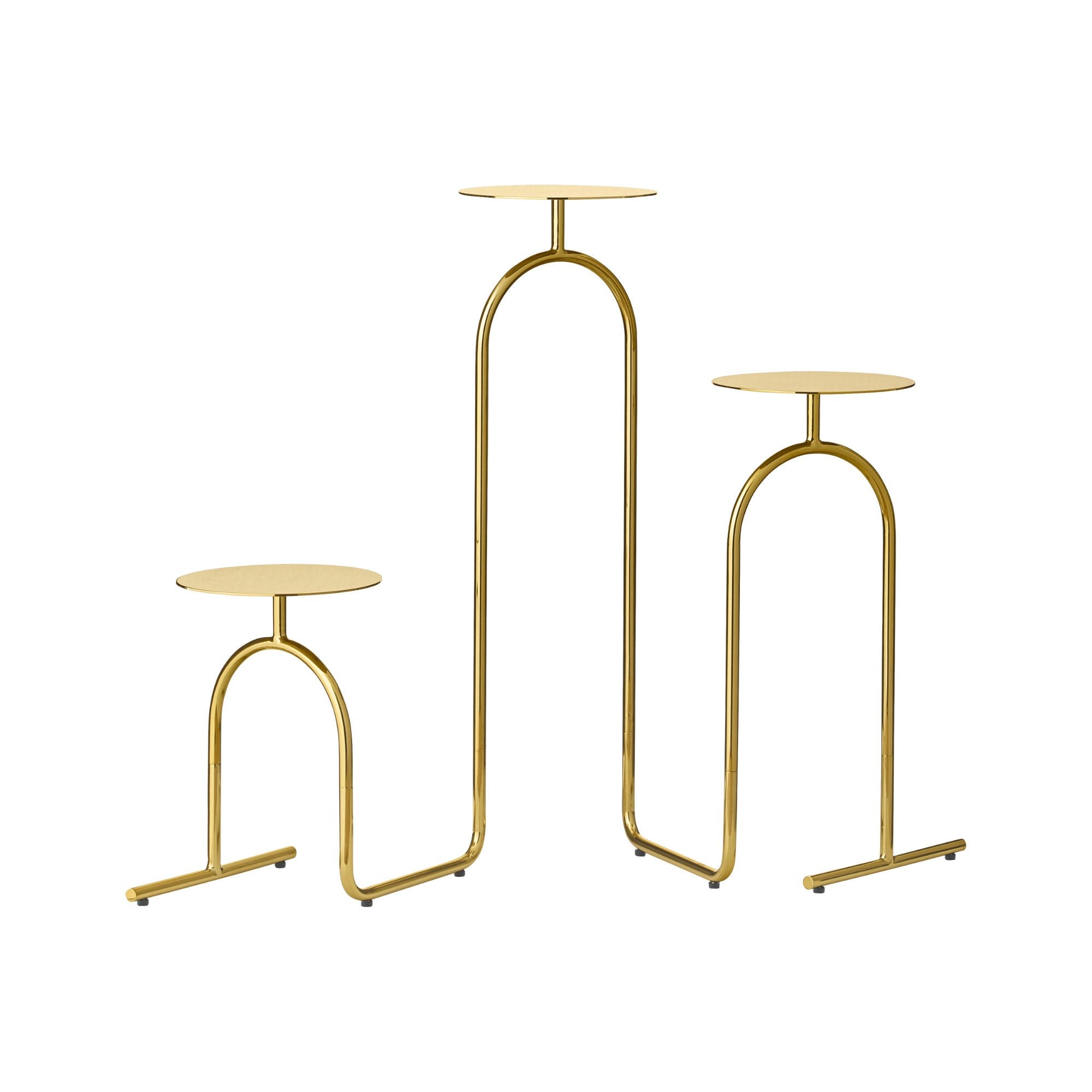 AYTM HIATUS Pedestal Table , Gold