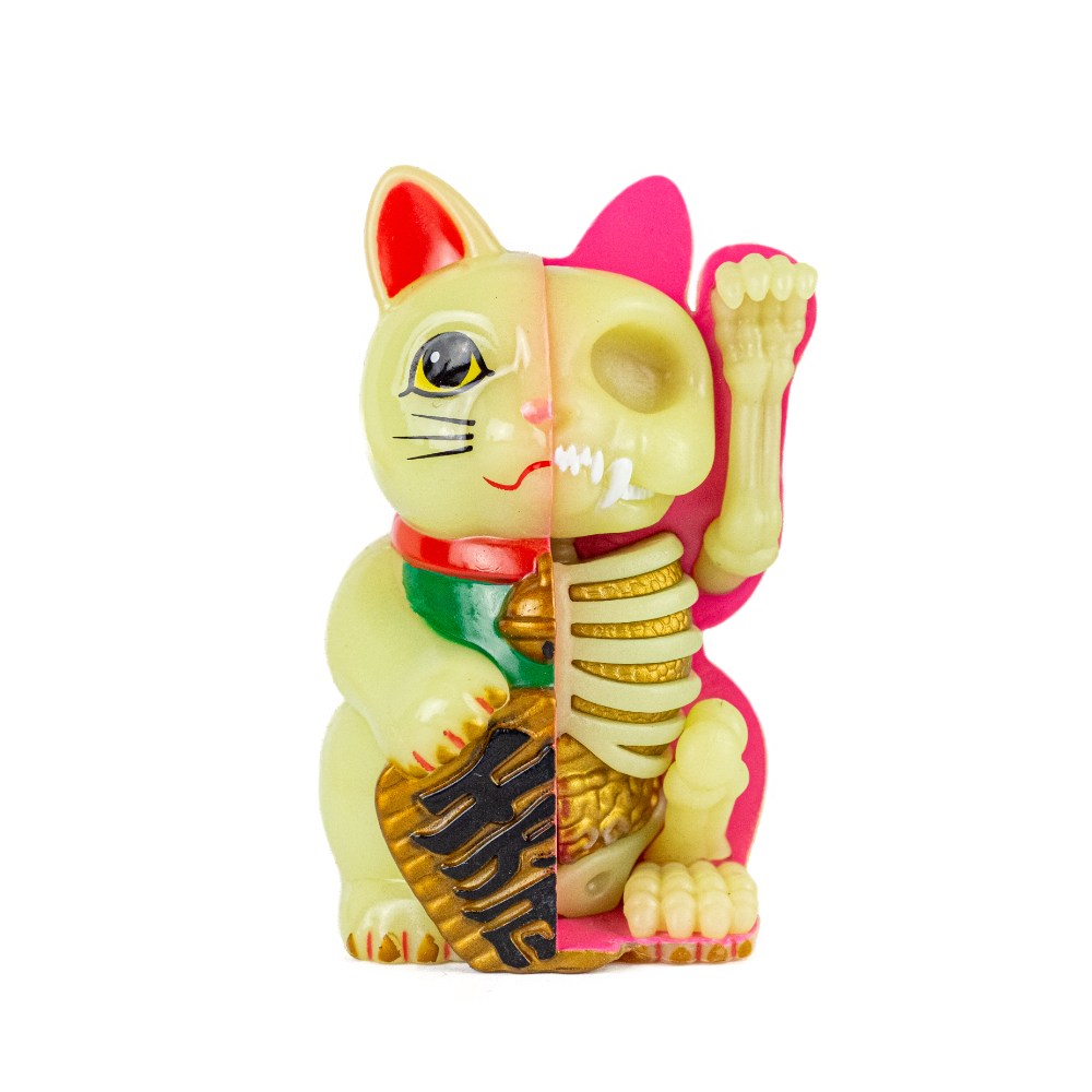 Fame Master Fortune Cat Anatomy Figure Glow In The Dark Edition 9cm