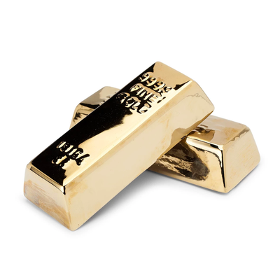 Kikkerland Gold Bar Coin Bank