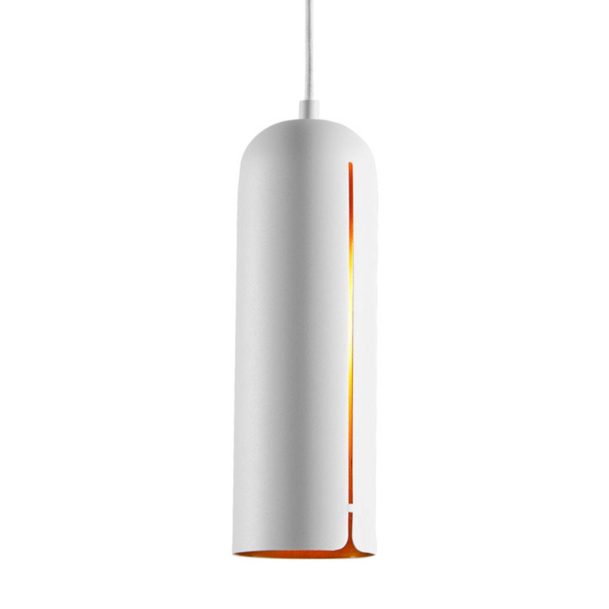 Woud Gap Pendant Tall , White