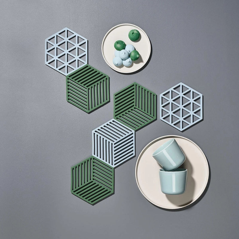 Zone Denmark Shell Hexagon Trivet , Sky