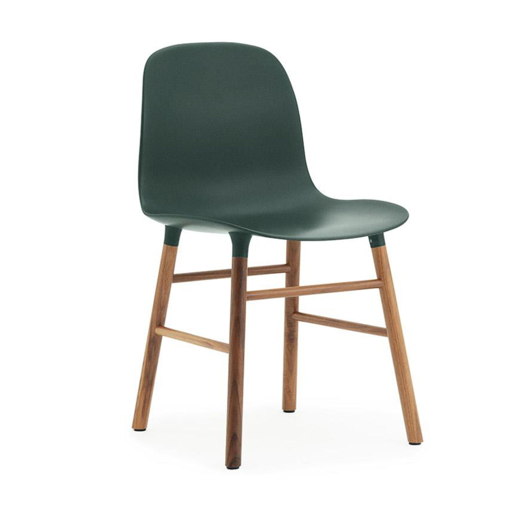 Normann Copenhagen Form Chair , Walnut/Green
