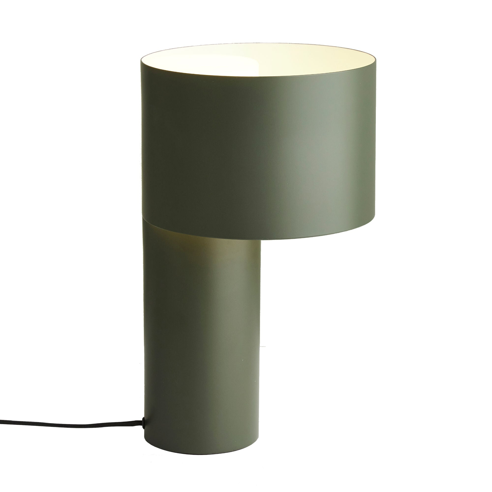 Woud Tangent Table Lamp , Forest Green