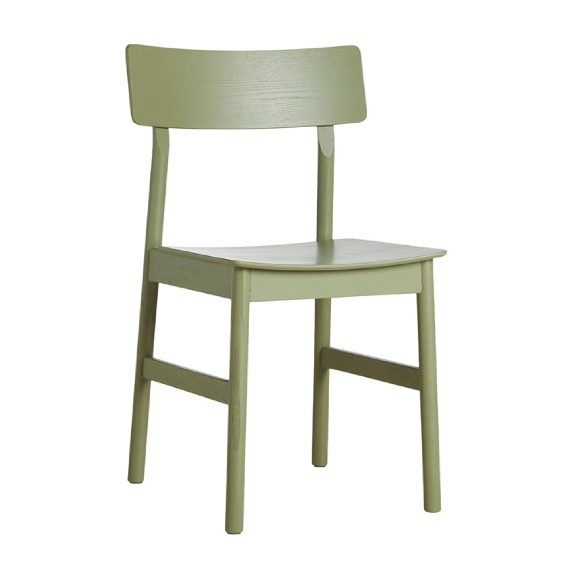 Woud Pause Dining Chair , Olive Green Painted Ash