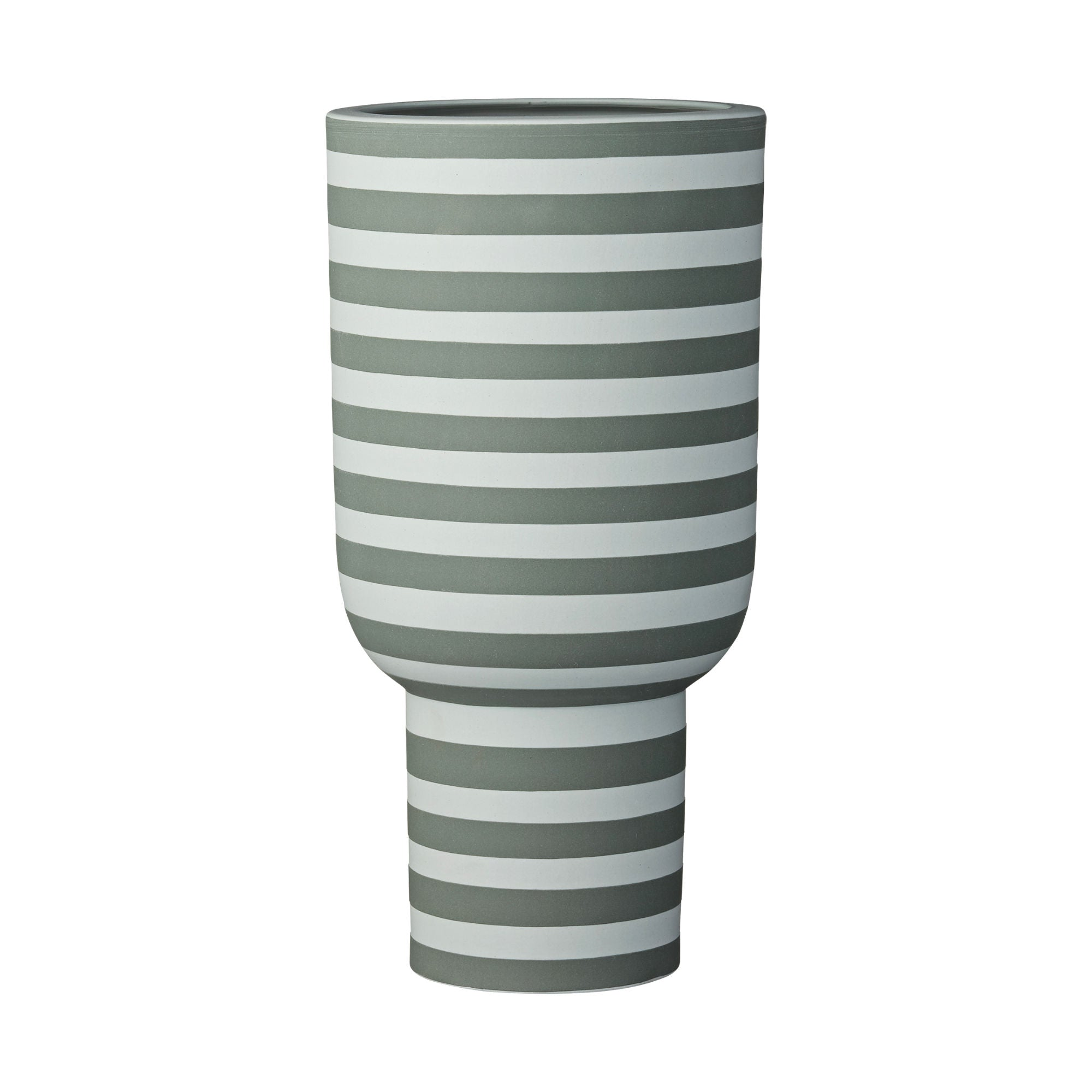 Aytm Varia Sculptural Vase , Dusty Green-Forest