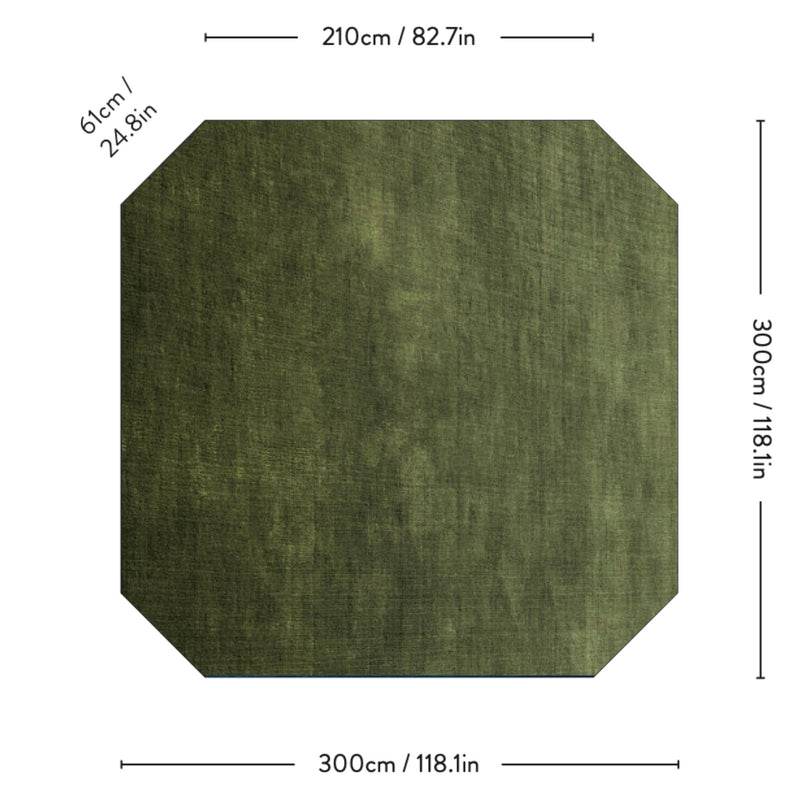 &Tradition AP8 The Moor Rug 300 * 300, green pine