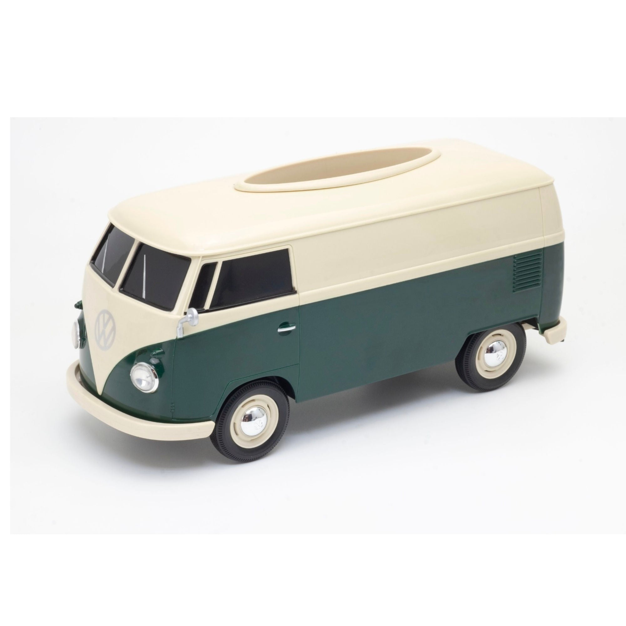 Volkswagen VW T1 Bue 1:16 Tissue Box , Green-Cream
