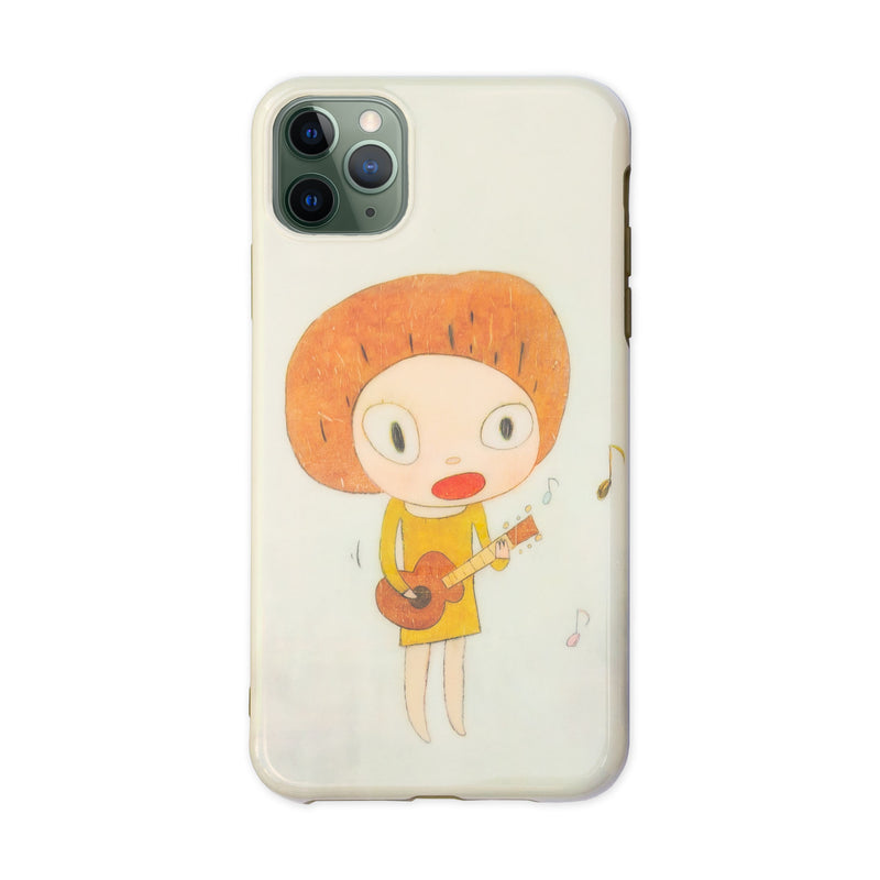 Yoshitomo Nara 2020 mobile case for iPhone 11 Pro Max, Guitar Girl/Cheer up! YOSHINO!