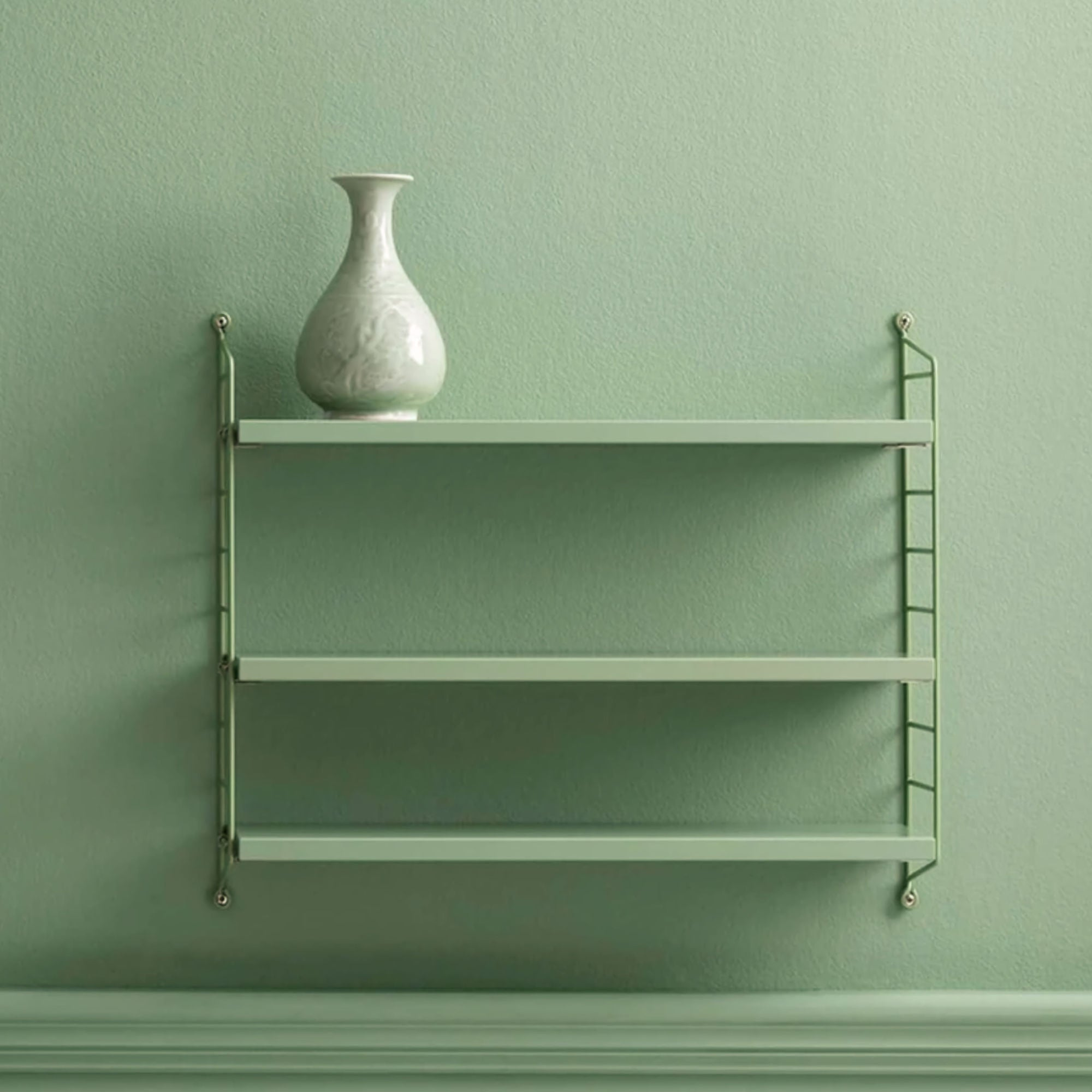 String Pocket Shelf , Green/Green