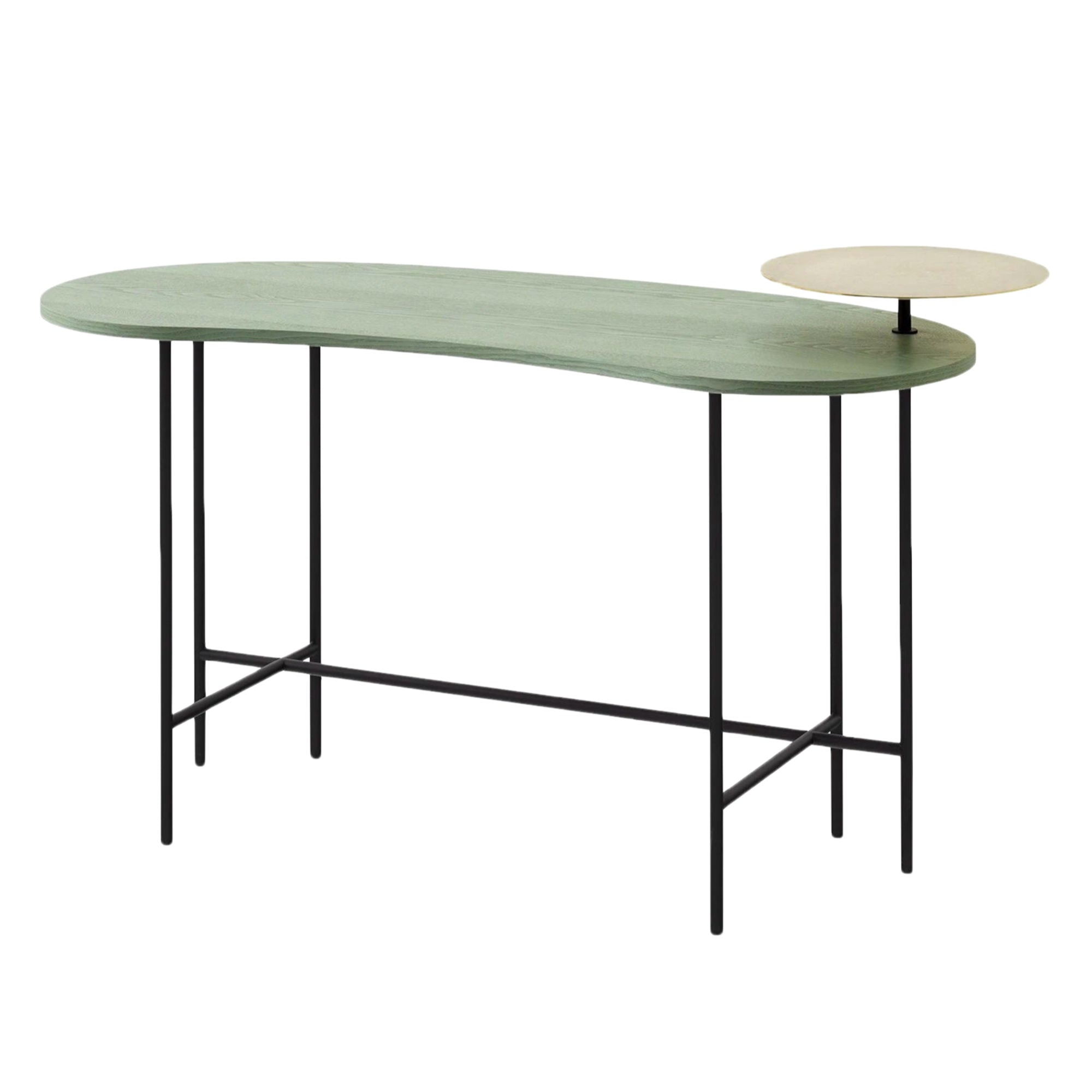 &Tradition JH9 Palette Desk , Brass-Grey Green Lacquered Ash Veneer
